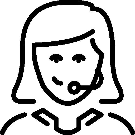 vendedor telefónico  icono gratis