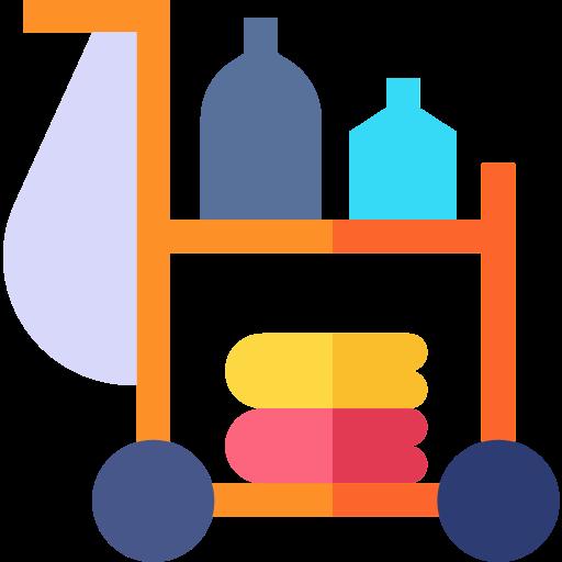 chariot de nettoyage  Icône gratuit