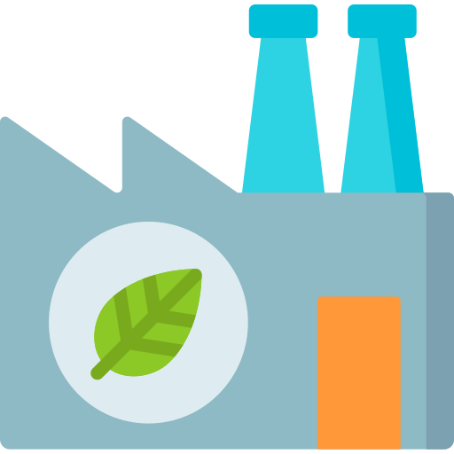 usine verte  Icône gratuit