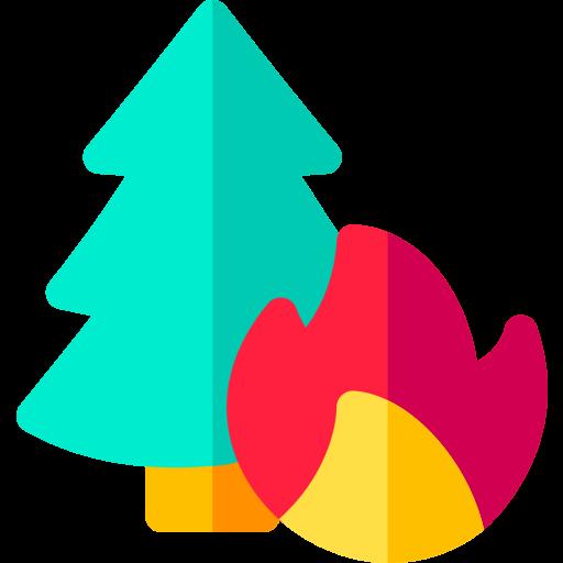 Floresta em chamas  grátis ícone