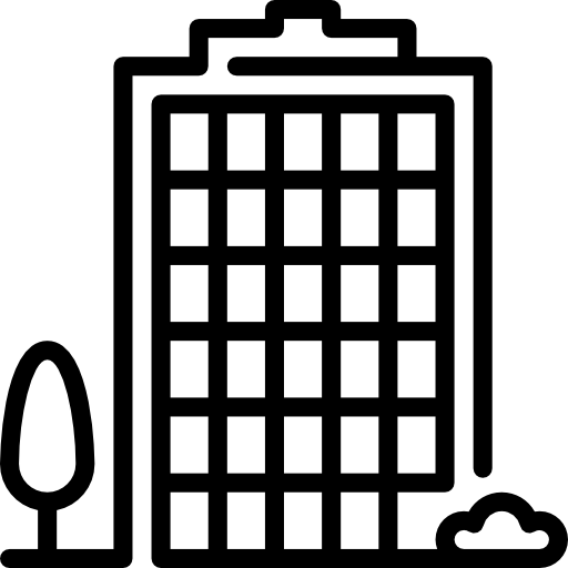 bloque de oficinas  icono gratis
