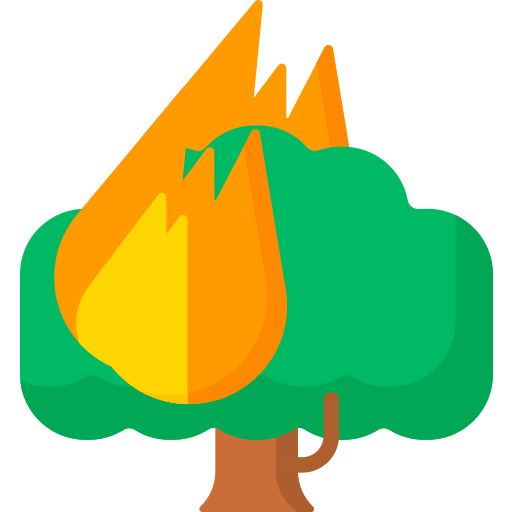 Forest fire  free icon