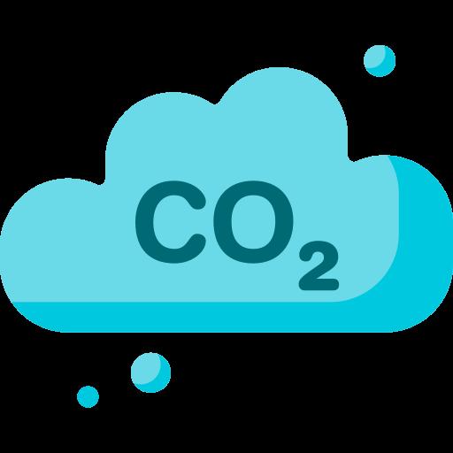 Carbon dioxide  free icon