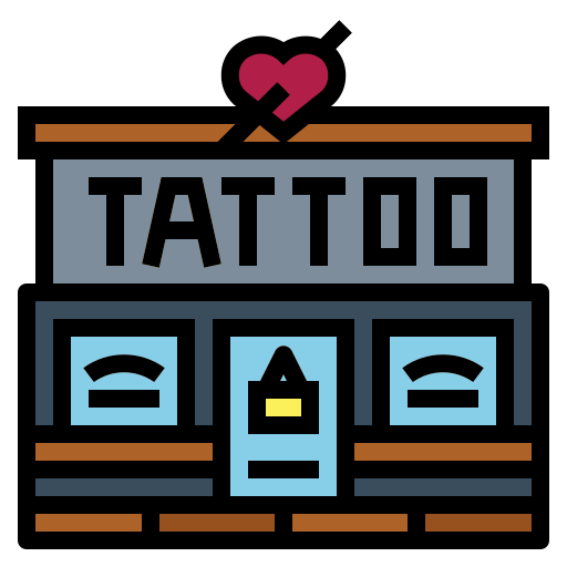 Estudio de tatuaje  icono gratis