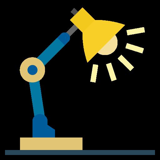 Desk lamp  free icon