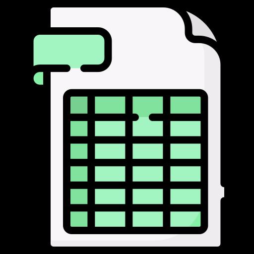Spreadsheet  free icon