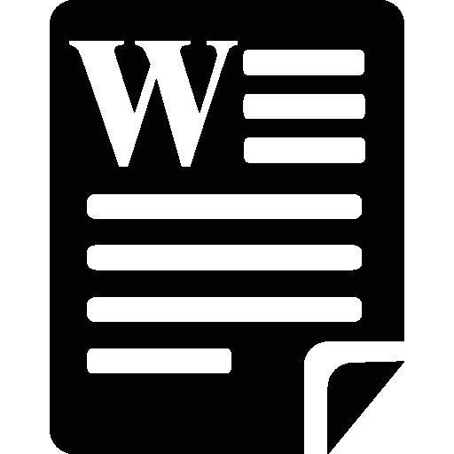 microsoft word 파일  무료 아이콘
