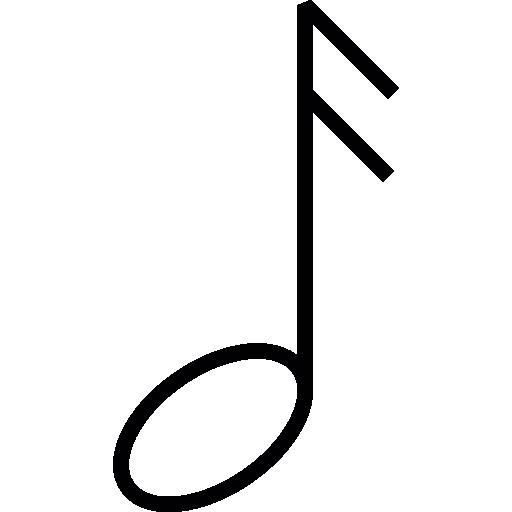 Музыкальная нота  бесплатно иконка