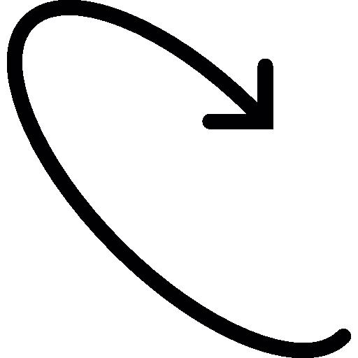 flèche tournant  Icône gratuit