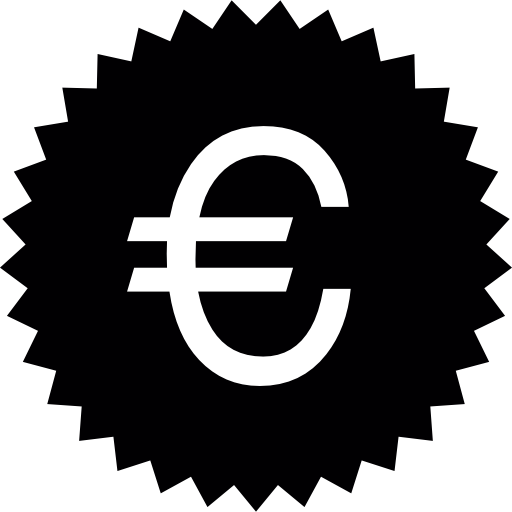 euro-symbol abzeichen  kostenlos Icon