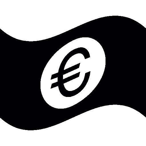 euro bill waving  kostenlos Icon