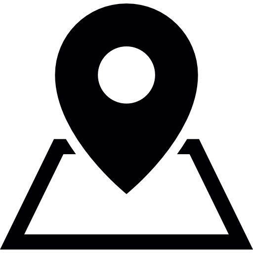 Placeholder on a map  free icon