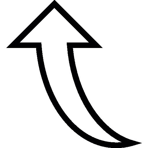 flèche courbe pointant vers le haut  Icône gratuit