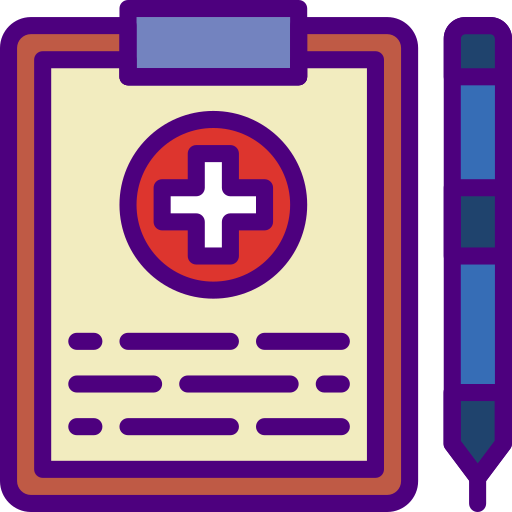Medical file  free icon