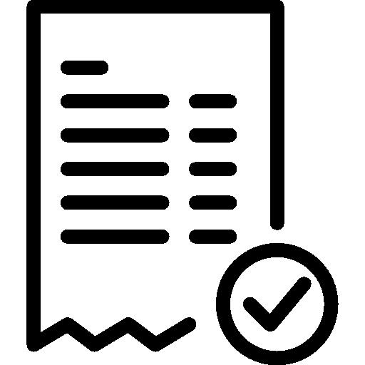 facture d'achat  Icône gratuit