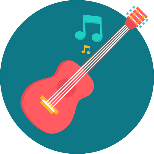 Acoustic guitar  free icon