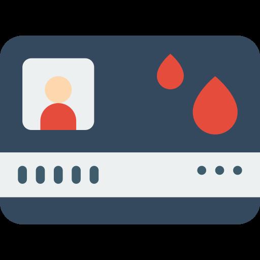 Cartão do doador de sangue  grátis ícone