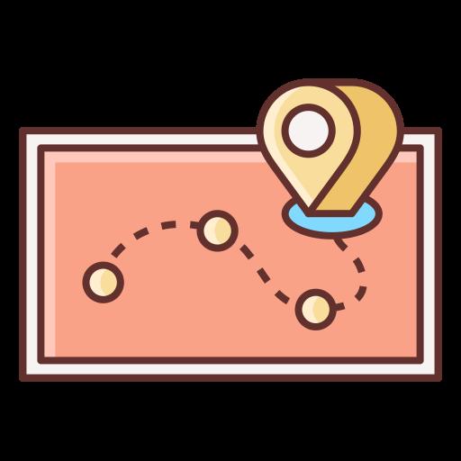 itinerário de viagem  grátis ícone