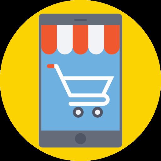 Shopping online  free icon
