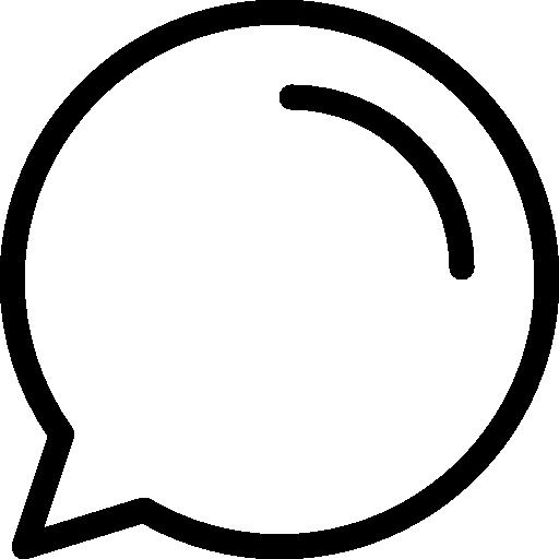 Speech bubble  free icon