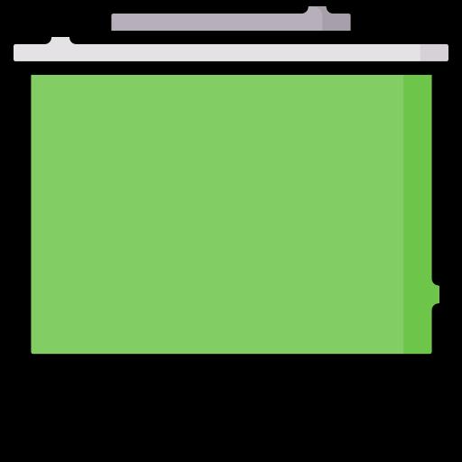 Tela verde  grátis ícone