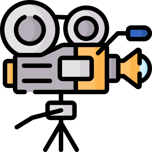 Câmera de cinema  grátis ícone