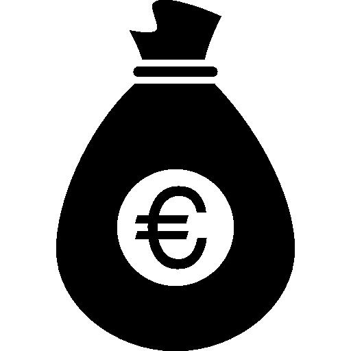 euro geldsack  kostenlos Icon