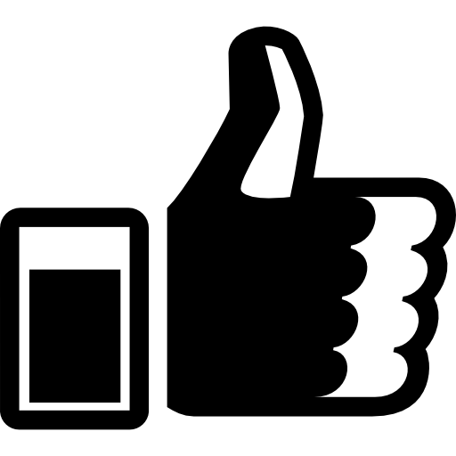 Right Hand Thumb up  free icon