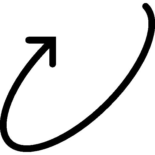 flèche circulaire  Icône gratuit