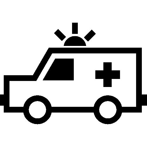 krankenwagen nach links  kostenlos Icon