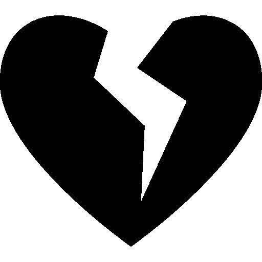 Broken heart  free icon