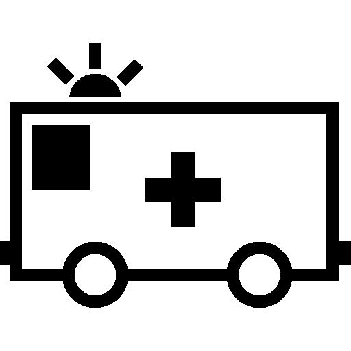 großer krankenwagen nach links  kostenlos Icon