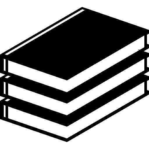Три стопки книг  бесплатно иконка