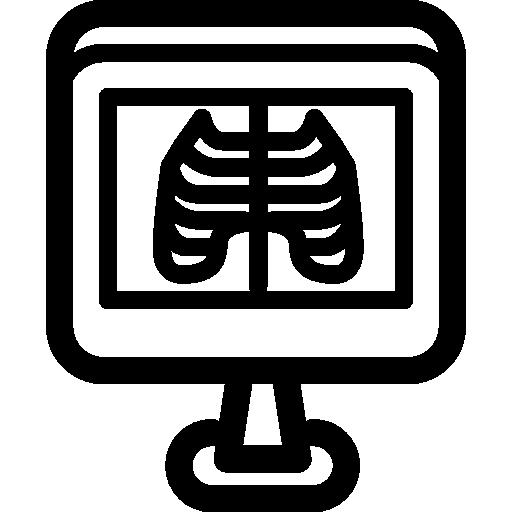 rayons x  Icône gratuit