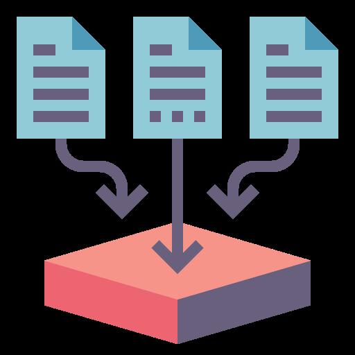 collecte de données  Icône gratuit