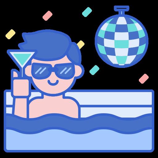 Вечеринка у бассейна  бесплатно иконка