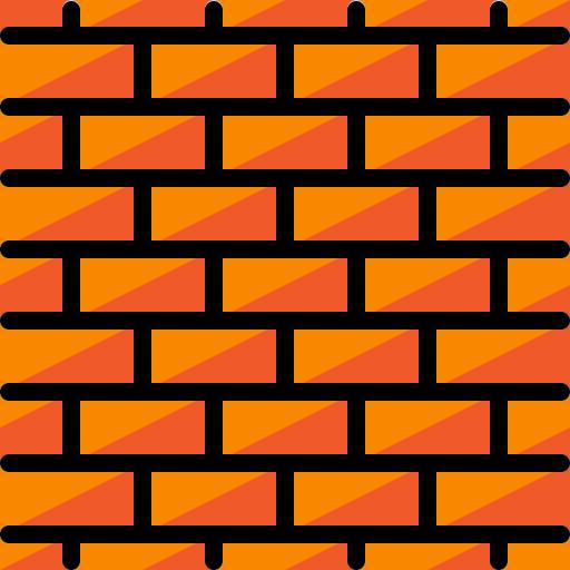Кирпичная стена  бесплатно иконка