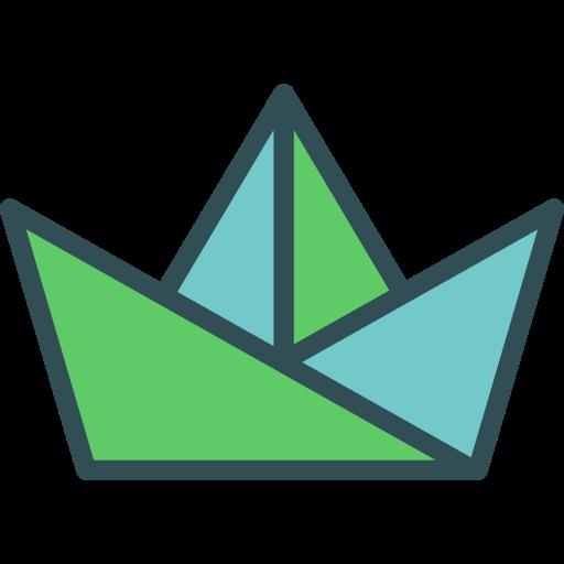 Paper boat  free icon