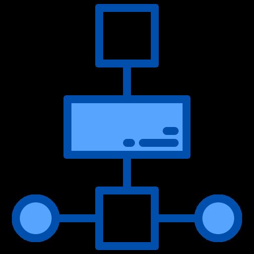 Блок-схема  бесплатно иконка