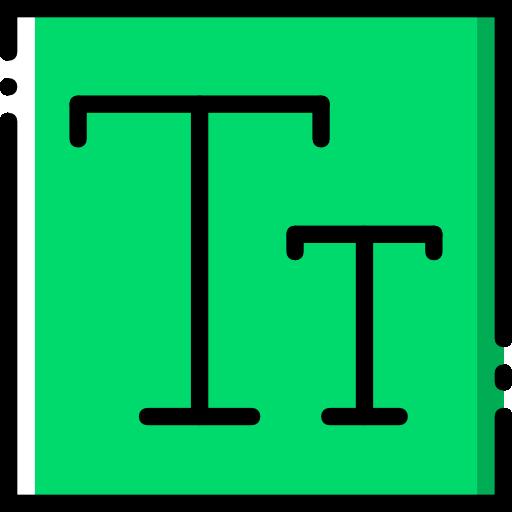 edición de texto  icono gratis
