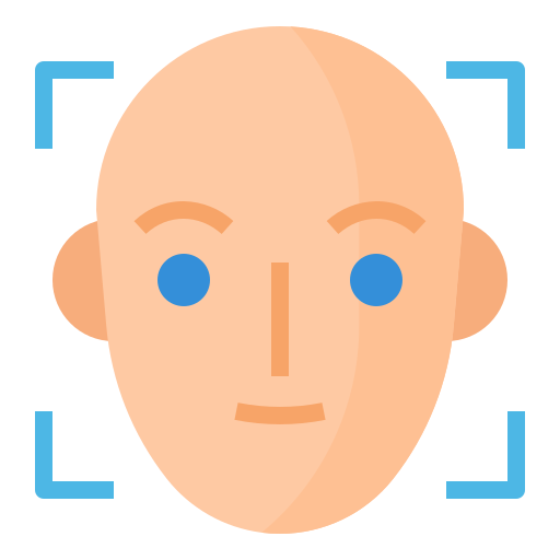Face recognition  free icon