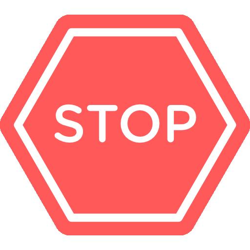Stop  free icon