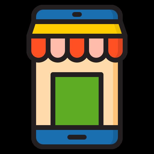 tienda en línea  icono gratis