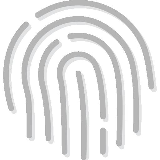 huella dactilar  icono gratis