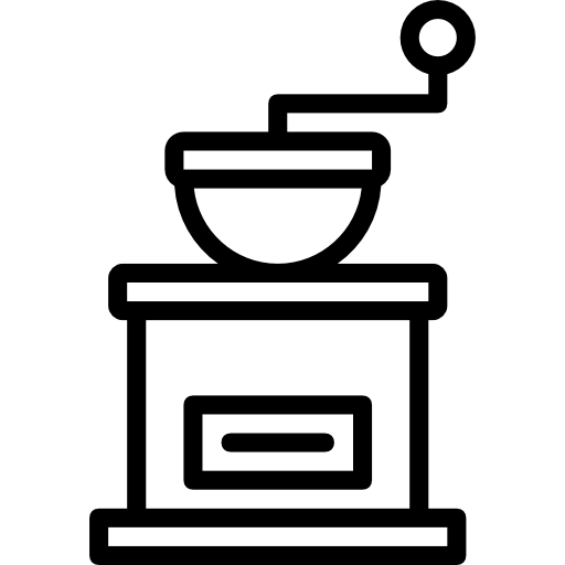 moedor de café  grátis ícone