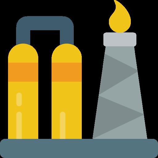 Oil refinery  free icon
