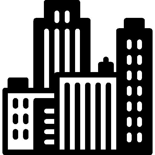 paisaje urbano  icono gratis