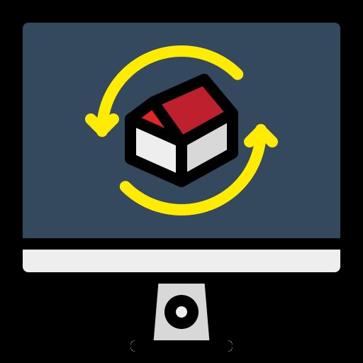 3d архитектура  бесплатно иконка