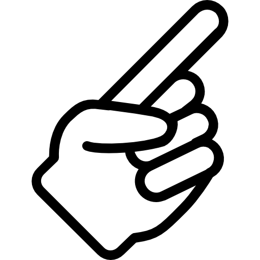 Pointing hand  free icon