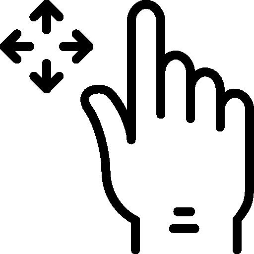 Drag  free icon